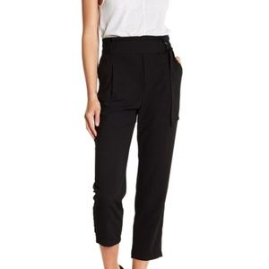 KNOW ONE CARES-Waist Tie Cropped Pants
